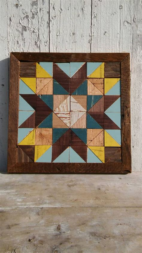 Barn Quilt Blocks by Wooden Barn Quilt Rustic Quilt Decor