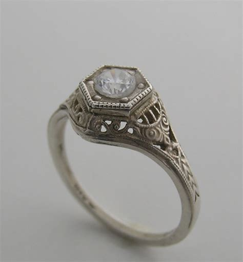 antique style engagement rings ideal weddings