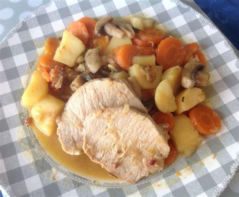 recette de cuisine équilibré recette cookeo rôti de porc normand sur manger de tout