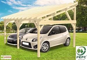 Carport 2 Voitures Bois : carport bois contrecoll adossable monopente 15 2 ~ Dailycaller-alerts.com Idées de Décoration