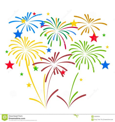 Celebrate Clipart Display Clipart Fireworks Celebration Pencil And In