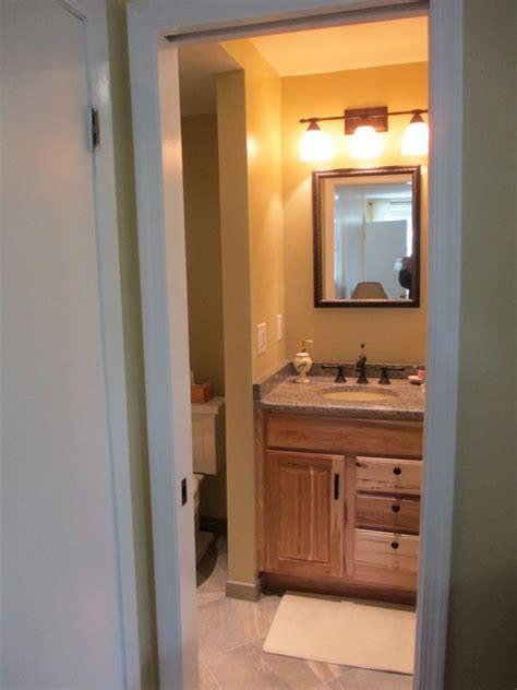 converting closet into mbr bath contemporary bathroom