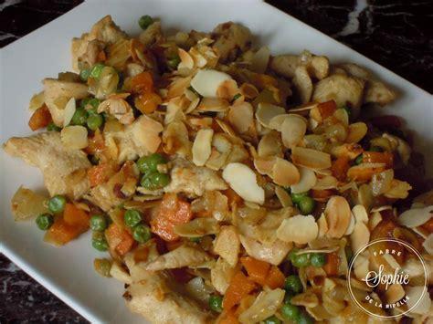 cuisiner citronnelle poulet aux amandes chine la tendresse en cuisine