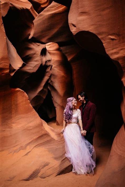 alternative arizona elopement antelope canyon wedding