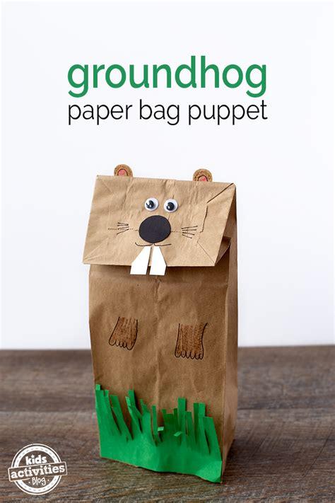 easy and groundhog paper bag puppet 280 | groundhog paper bag puppet 6