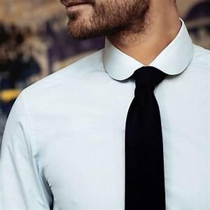 Chemise Homme Col Rond : chemise bleu ciel en micro pied de poule col rond coupe slim ~ Voncanada.com Idées de Décoration