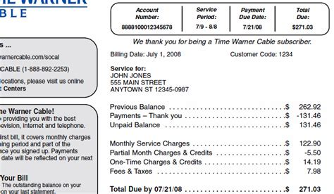 time warner cable billing phone number time warner cable bill pay images
