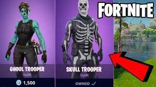 omg  fortnite bringing  skull trooper  ghoul