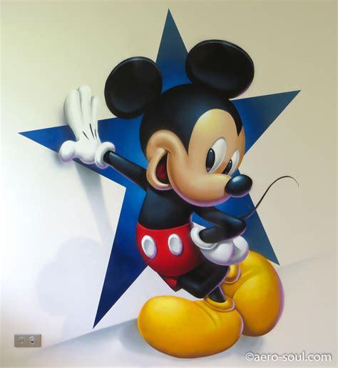 chambre mickey mouse décoration murale graffiti aérosol pour chambre d 39 enfant