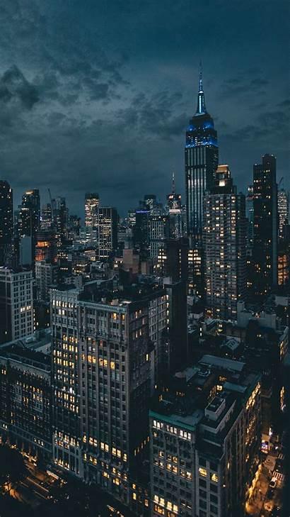 Night York Lights Skyscrapers Iphone Aesthetic Unsplash