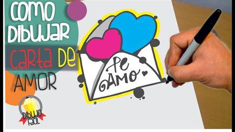 como dibujar carta de amor dibujos de amor   draw  love letter youtube
