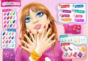 jeux de coiffeuse et maquilleuse jeu de maquillage et ongles