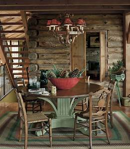 Log cabin house tour decorating ideas for log cabins for Christmas decorating ideas for log cabins