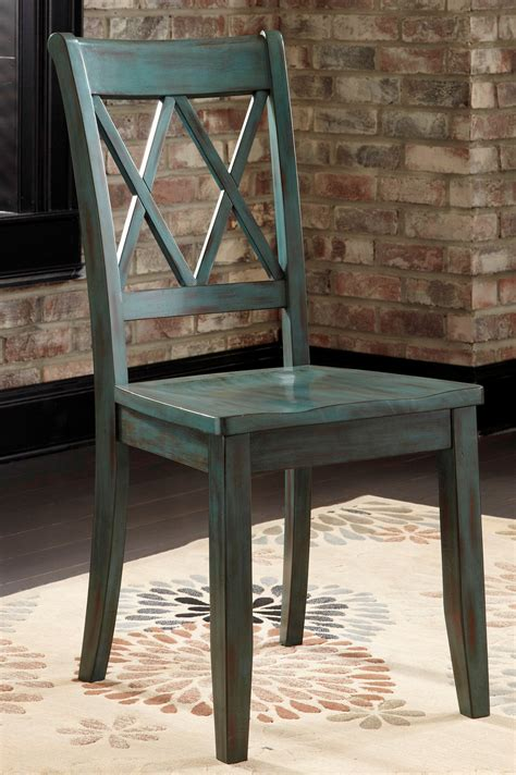 mestler side chair by mestler antique blue side chair set of 2 from d540