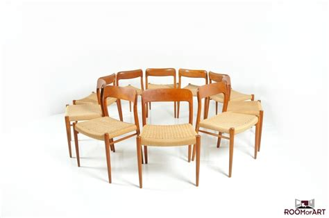 set of 10 dining chairs by niels o moller room of