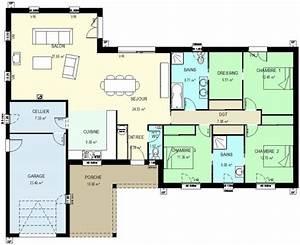 construction 86fr gt plan maison traditionnelle plain pied With plans de maison gratuit 9 maison contemporaine avec piscine interieure apla