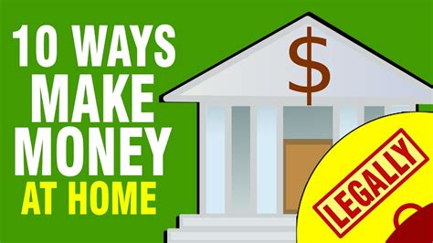 Best Way To Earn Money 10 Ways To Make Money From Home In 2017
