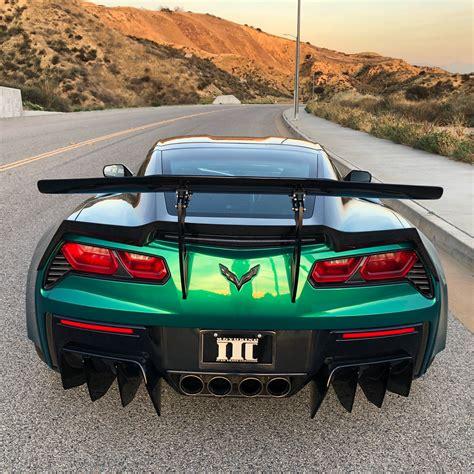 xik carbon fiber rear diffuser series   corvette