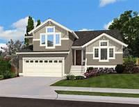 split level homes Split Level Home Plan for Narrow Lot - 23444JD ...