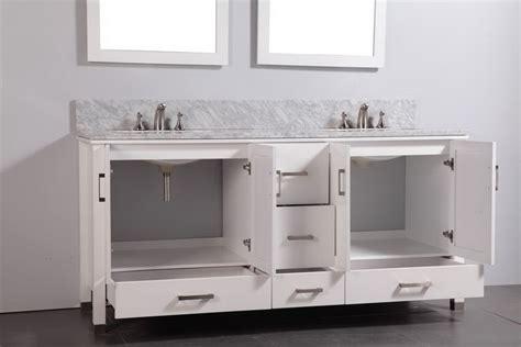 Legion 72 Inch Contemporary Bathroom Vanity White Finish