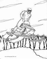 Coloring Winter Printable Sheets Snow Scooter Coloringpages101 Sport Snowmobile Websincloud Ausmalbilder Coloriage Depuis Enregistrée Recess Besök Dessins Sportif Para Från sketch template