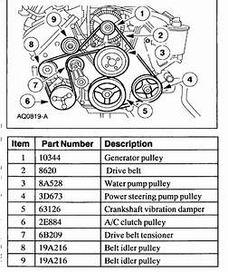 2001 Mustang Gt Serpentine Belt Diagram