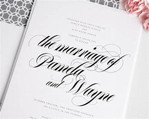 bold calligraphy wedding invitations in gray wedding With writing wedding invitations in calligraphy
