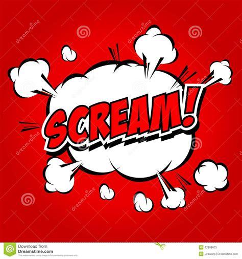 Scream! Comic Speech Bubble, Cartoon Stock Vector Image