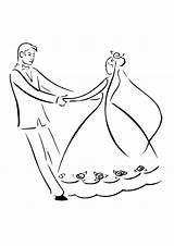 Groom Bride Coloring Mat Dance Drawing Printable Getcolorings Instant Getdrawings Utilising Button Paper sketch template