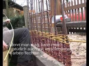 Weidenzaun Selber Bauen : weidenzaun sichtschutz energieweiden youtube ~ Watch28wear.com Haus und Dekorationen