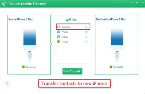 transfer contacts to new iphone 3 ways to transfer contacts from iphone to iphone x 8 8 plus