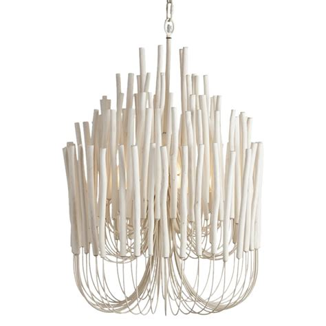 olav modern classic white washed wood tubular chandelier
