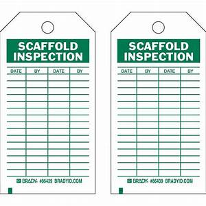 Scaffold inspection tags pictures to pin on pinterest for Scaffold inspection checklist free template