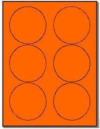 120 round neon labels 333 inch fluorescent orange With avery 5295 template