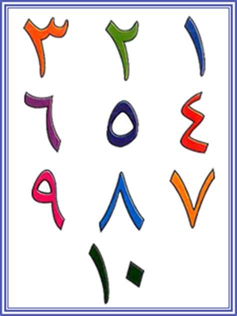 arabic tracing numbers