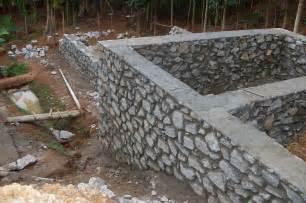 Rubble Stone Masonry Foundation Walls