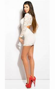 Lace dress with open back N6838