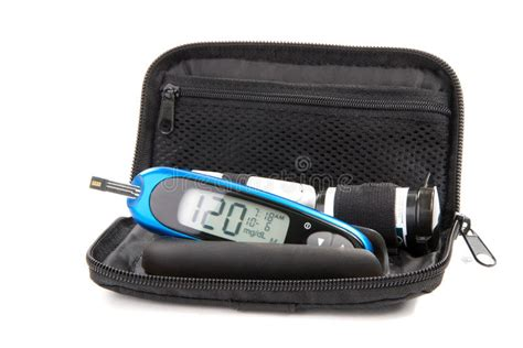 diabetes glucose level blood test glucometer kit stock