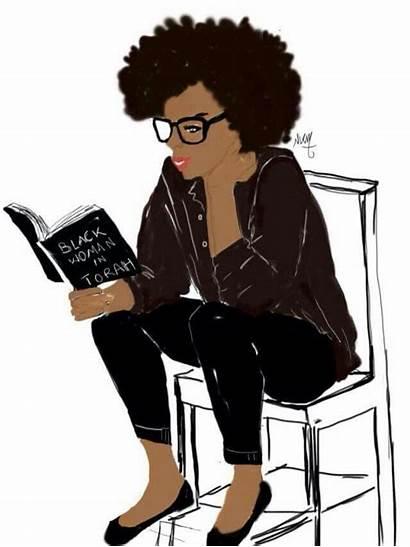 African American Books Kobi Reading Woman Illustration