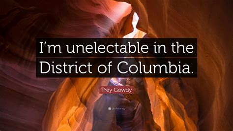 trey gowdy quote im unelectable   district
