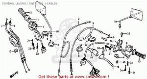 Honda Cb750sc Nighthawk 750 1982  C  Usa Control Levers    Switches    Cables