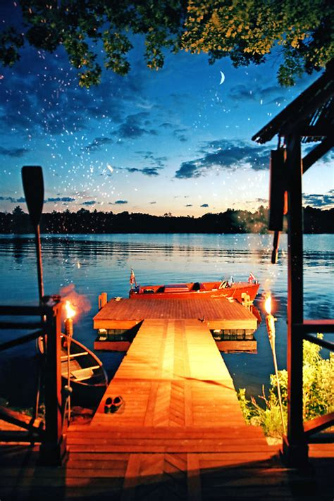 night   lake pictures   images