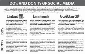 Infographic: Do's and Don'ts of Social Media – The Collegian
