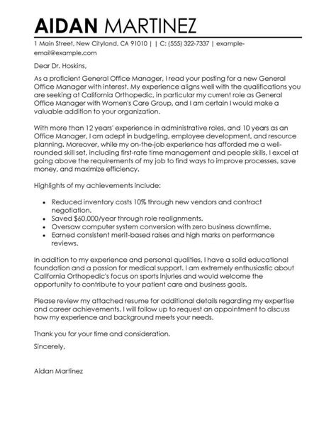 Elite Resume Writing Cover Letter by Free Admin General Manager Cover Letter Exles