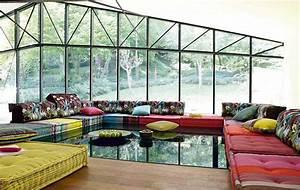 50 idees deco de canape With tapis jaune avec roche beau bois canapé