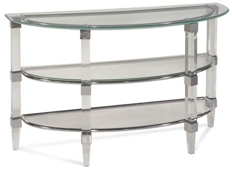 Cristal Acrylic And Chrome Console Table From Bassett. Executive Office Desks. Hog Lighting Desk. Two Tone End Table. 36 Inch Desk