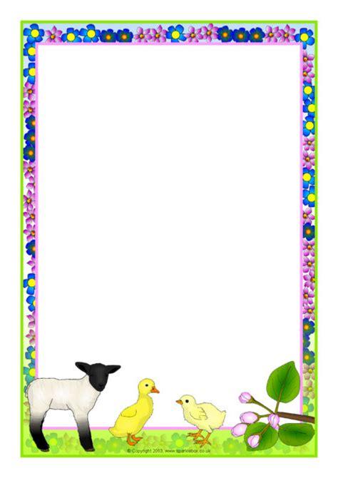 spring themed  page borders sb sparklebox