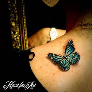realistic tattoo art | 3D Realistic Butterfly Tattoo ...