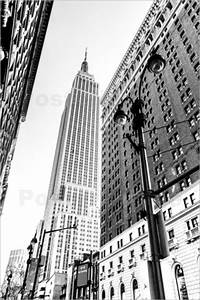 Bild New York Schwarz Weiß : sascha kilmer new york city empire state building schwarz wei poster online bestellen ~ Bigdaddyawards.com Haus und Dekorationen