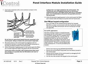 Icontrol Networks 4000001604 Panel Interface Module User
